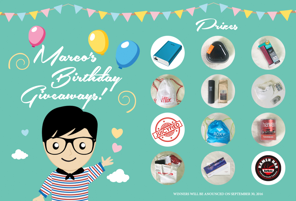 Marco's Birthday Giveaways