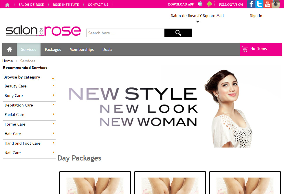 Salon de Rose Website